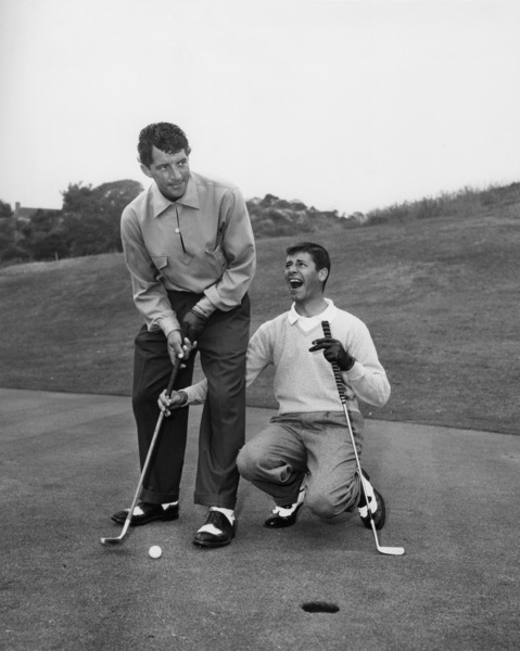 Dean Martin and Jerry Lewis at Riviera Country Club in Los Angeles1951** I.V. / M.T. - Image 0292_0613