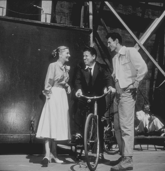 George Stevens with Joan Fontaine and Jack Palance 1953 © 1978 Sid Avery - Image 0300_0003