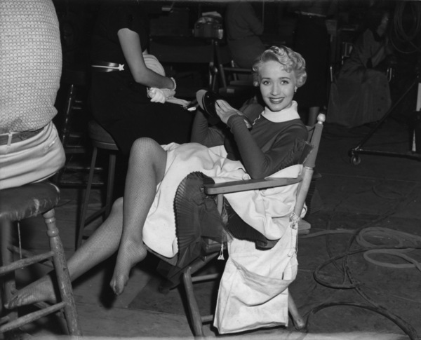 "Jane Powell on the set of ""Three Sailors and a Girl""1953 Warner BrothersPhoto by Jack Albin - Image 0328_0195"