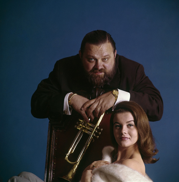 "Ann-Margret and Al Hirt during the album cover photo session for ""Beauty and the Beard""1964© 1998 Ken Whitmore - Image 0332_0289"