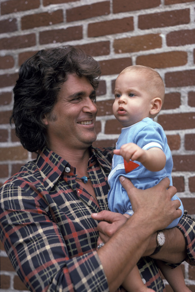 Michael Landon with son Christopher1975** H.L.  - Image 0334_0208