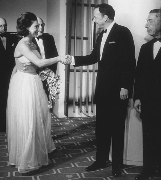 Frank Sinatra and Mike Romanoff meet Princess Margaret / c. 1960 © 1978 Ted Allan - Image 0337_0769