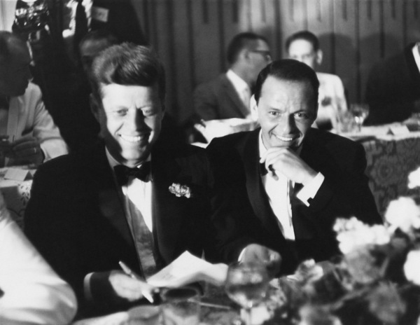 Frank Sinatra and John F. Kennedy at a dinner in Los Angeles on July 10, 1960, the eve of the Democratic National Convention - Image 0337_0951