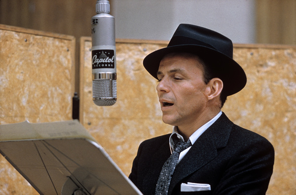 """Frank Sinatra at """"This Is Sinatra"""" Capitol recording session1957 © 1978 Sid Avery - Image 0337_1405"""