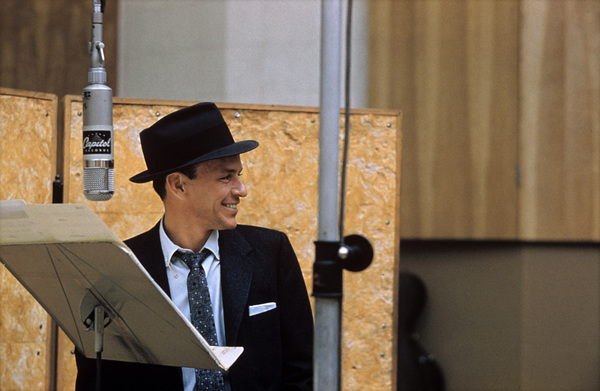 """Frank Sinatra at """"This Is Sinatra"""" Capitol recording session1957 © 1978 Sid Avery - Image 0337_1407"""