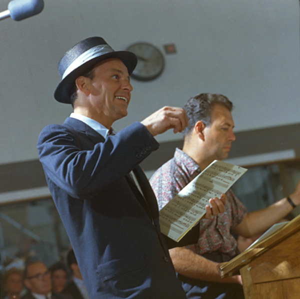 Frank Sinatra & Nelson Riddle at a recording session for Capitol Records, c. 1953. © 1978 Sid Avery - Image 0337_1466