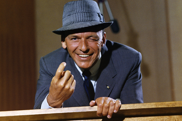 "Frank Sinatra at a Capitol Records album cover shoot for ""Come Dance With Me!""1959© 1978 Sid Avery - Image 0337_1469"