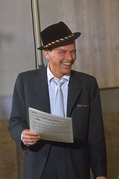 """Frank Sinatra during a 1959 recording session """"Look To Your Heart"""" for Capitol Records. © 1978 Sid Avery - Image 0337_1476"""