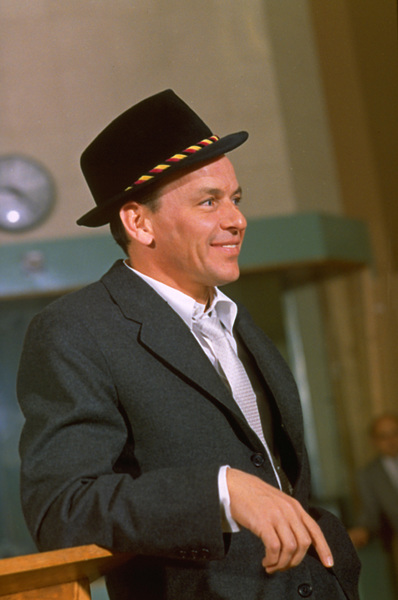 """Frank Sinatra during a 1959 recording session """"Look To Your Heart"""" for Capitol Records. © 1978 Sid Avery - Image 0337_1478"""