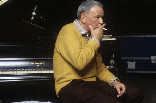 "Frank Sinatra at the Reprise recording session of ""Trilogy""1979© 1979 Ed Thrasher - Image 0337_1963"