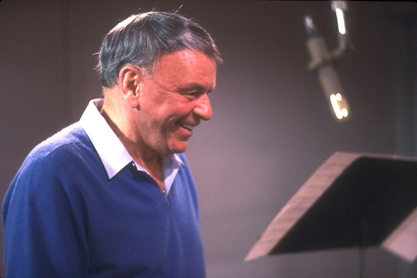 """Frank Sinatra at the Reprise recording session of """"L.A. Is My Lady"""" / A&R Studios, New York / 1984 © 1984 Ed Thrasher - Image 0337_1971"""