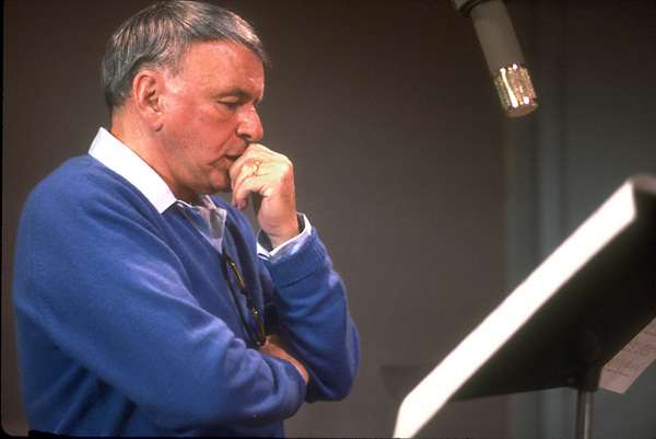 """Frank Sinatra at the Reprise recording session of """"L.A. Is My Lady"""" / A&R Studios, New York / 1984 © 1984 Ed Thrasher - Image 0337_1973"""