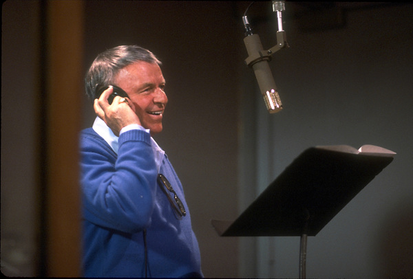 """Frank Sinatra at the Reprise recording session of """"L.A. Is My Lady"""" / A&R Studios, New York / 1984 © 1984 Ed Thrasher - Image 0337_1976"""