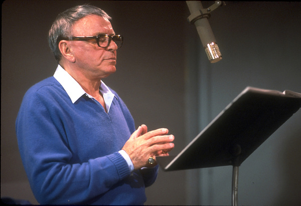 "Frank Sinatra at the Reprise recording session of ""L.A. Is My Lady"" / A&R Studios, New York / 1984 © 1984 Ed Thrasher - Image 0337_1982"