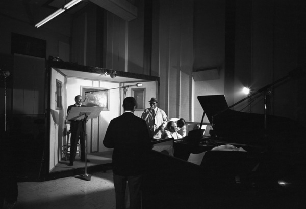 """Frank Sinatra with Count Basie at the recording session for the album """"It Might as Well Be Swing""""1964 © 1978 Ted Allan - Image 0337_1999"""