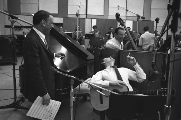 Frank Sinatra and Antonio Carlos Jobim at a Reprise recording session1967 © 1978 Ed Thrasher - Image 0337_2009