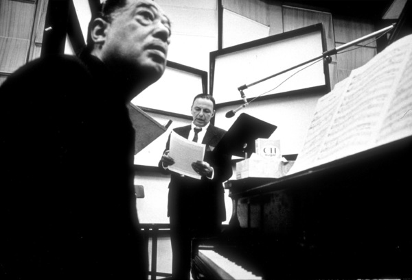 Frank Sinatra with Duke Ellington at a Reprise recording session / 1967 © 1978 Ed Thrasher - Image 0337_2014