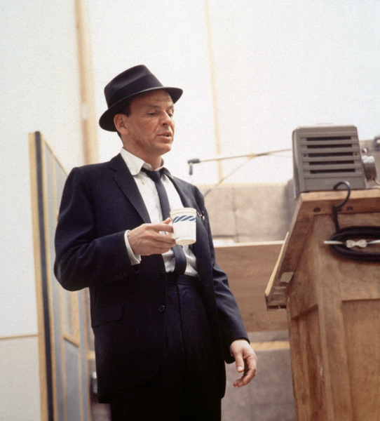 Frank Sinatra at a Capitol Records recording session, c. 1954. © 1978 Sid Avery - Image 0337_2113