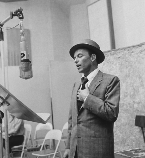 Frank Sinatra at a Capitol Records recording session, c. 1954 © 1978 Sid Avery - Image 0337_2121