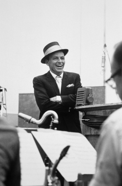 Frank Sinatra at a Capitol Records recording sessioncirca 1954© 1978 Sid Avery - Image 0337_2129
