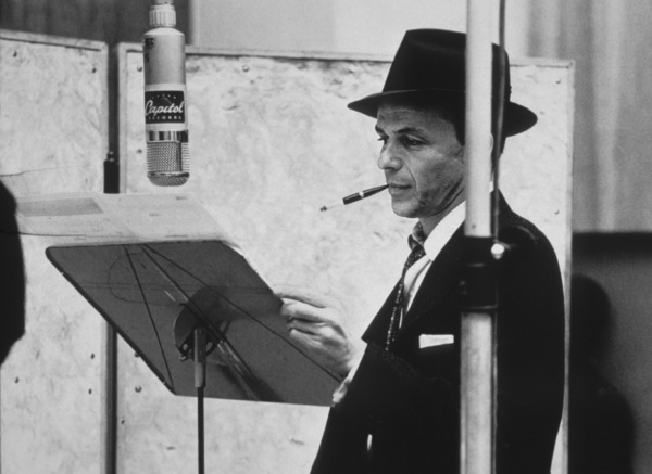 Frank Sinatra at a Capitol Records recording session, c. 1957 © 1978 Sid Avery - Image 0337_2155