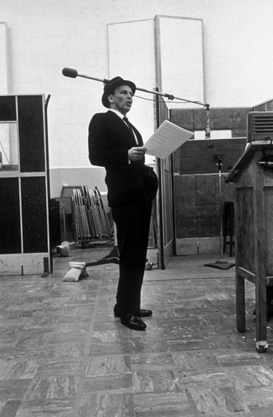Frank Sinatra at a Capitol Records recording session circa 1959© 1978 Sid Avery - Image 0337_2163