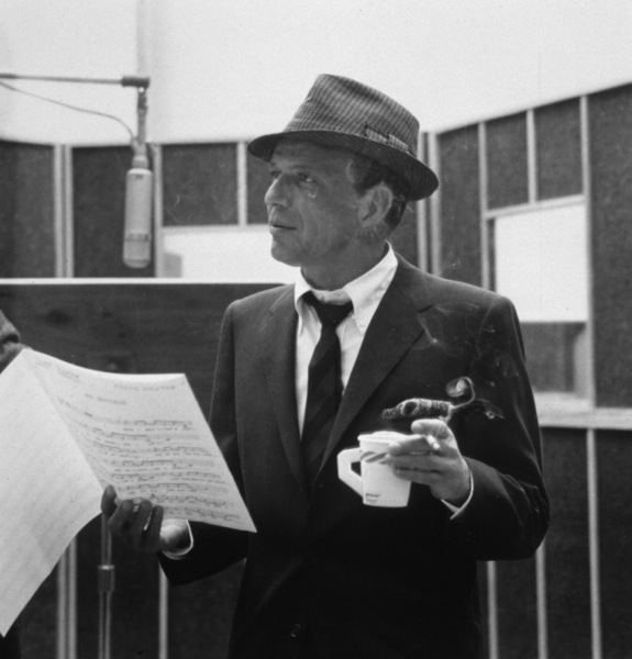 """Frank Sinatra at a Capitol Records recording session, c. 1959 for """"Come Dance with Me"""" © 1978 Sid Avery - Image 0337_2169"""
