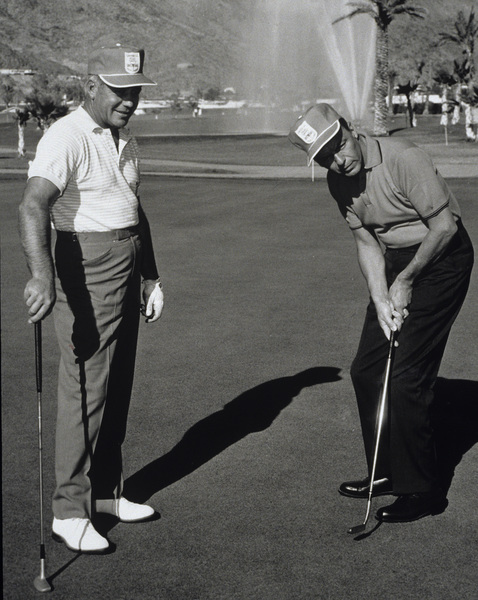 Frank Sinatra and Bo Wininger at the Canyon Country Club in Palm Springs for The Frank Sinatra Invitational Golf Tournament1963Photo by Lester Nehamkin** G.L. - Image 0337_2197