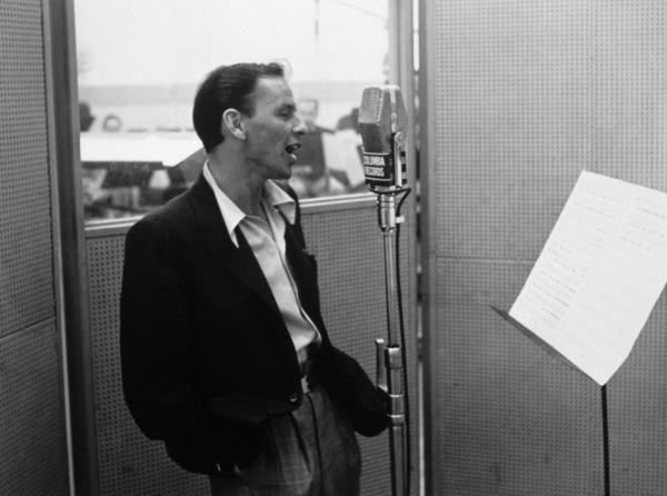 Frank Sinatra at a Columbia Records recording sessionFeb. 6, 1952 - Image 0337_2268