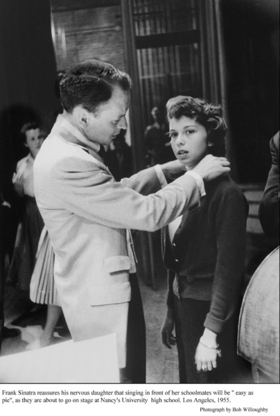 Frank Sinatra & Nancy Sinatra before a performance at her high school. 1955 © 1978 Bob Willoughby - Image 0337_2355