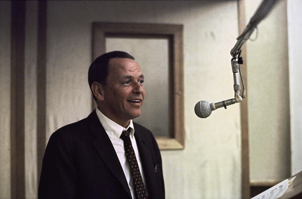 Frank Sinatra at a Reprise recording session11-13-1968 © 1978 Ed Thrasher - Image 0337_2473