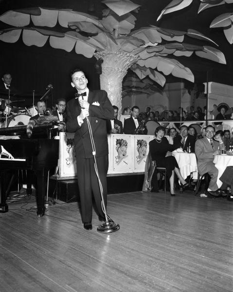 Frank Sinatra performing at the Copacabana (nightclub) in New Yorkcirca 1943© 1978 Barry Kramer - Image 0337_2833