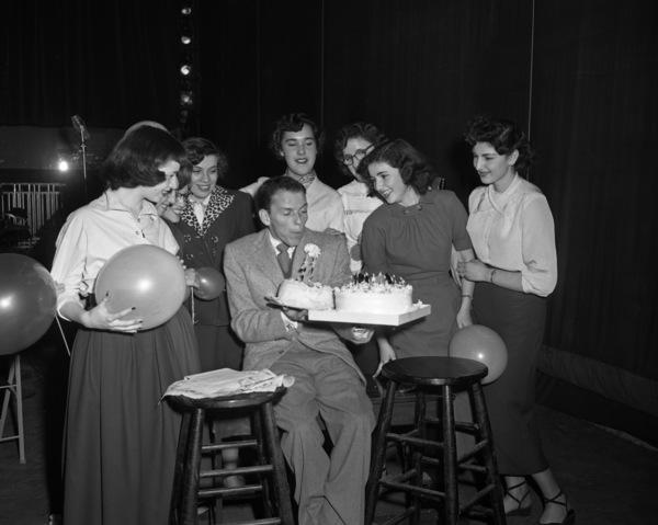 Frank Sinatra on his 32nd birthday1947© 1978 Barry Kramer - Image 0337_2842