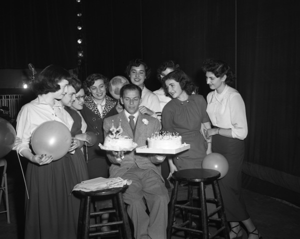Frank Sinatra on his 32nd birthday1947© 1978 Barry Kramer - Image 0337_2844