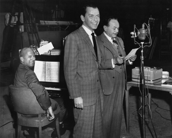 Frank Sinatra with Jimmy Van Heusen and Edward G. Robinson1959** A.H. - Image 0337_2883