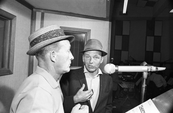 Frank Sinatra at a Reprise recording session with Bing Crosby1964© 1978 Ed Thrasher - Image 0337_2909