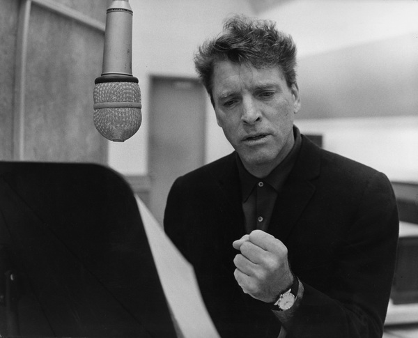 "Burt Lancaster in the studio doing some voiceover work for the film ""The Train""1964 © 1978 Marv Newton - Image 0415_0188"