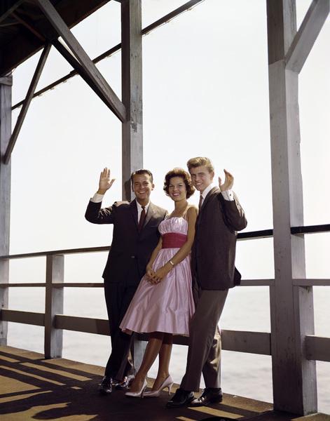 Dick Clark, Anita Bryant and Bobby Rydell in Atlantic City, New York.circa 1960 © 2005 Michael Levin - Image 0590_0005