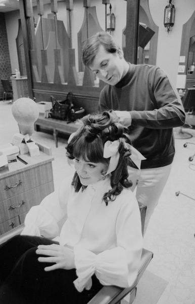 Sally Field getting her hair done, c. 1968 © 1978 Chester Maydole - Image 0603_0089