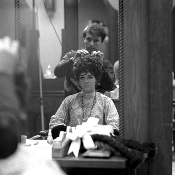 Sally Field getting her hair done, c. 1972 © 1978 Chester Maydole - Image 0603_0092