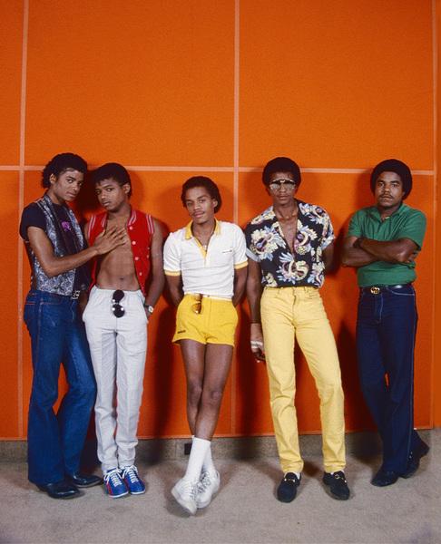 The Jackson Five (Marlon, Jermaine, Jackie, Michael, Tito) circa 1980s © 1980 Michael Jones - Image 0628_0187