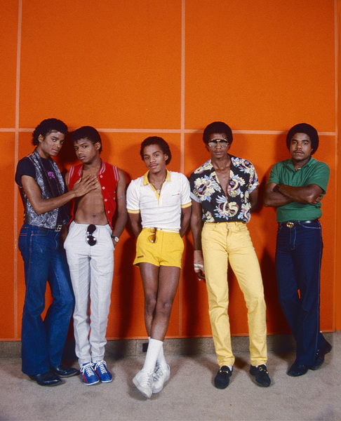 The Jackson Five (Marlon, Jermaine, Jackie, Michael, Tito) circa 1980s © 1980 Michael Jones - Image 0628_0187