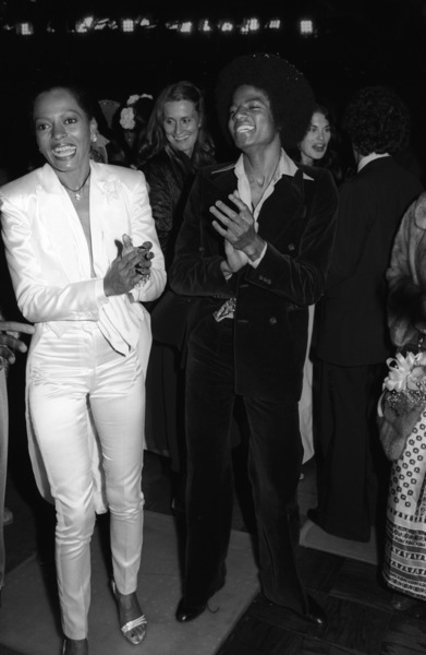 """Diana Ross and Michael Jackson at the Century City movie premiere of """"The Wiz""""1978© 1978 Bobby Holland - Image 0628_0198"""
