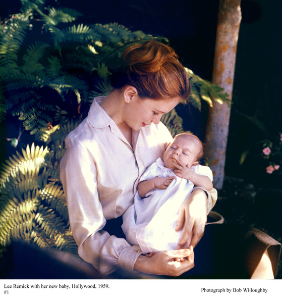 Lee Remick with her new baby in Hollywood, 1959 © 1978 Bob Willoughby - Image 0651_0024