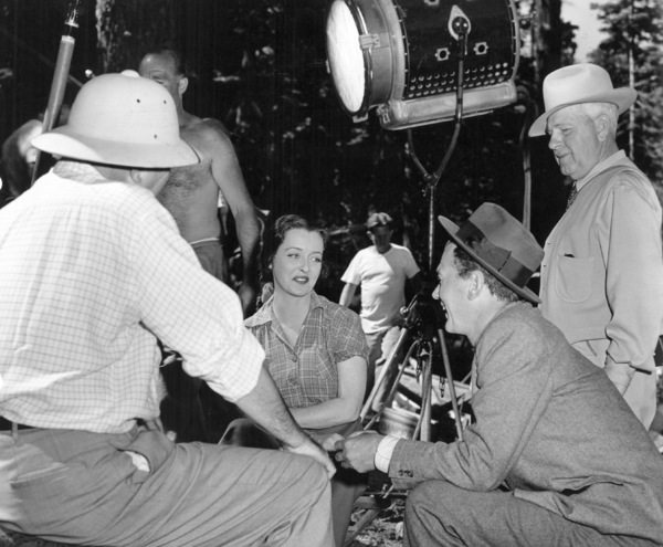 """Bette Davis and Joseph Cotten behindthe scenes of """"Beyond The Forest."""" 1949 / WarnerPhoto by Bert Six - Image 0701_1363"""