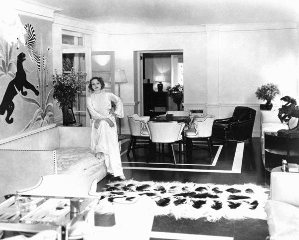 Marlene Dietrich at home, c. 1932.**R.C. - Image 0709_1078