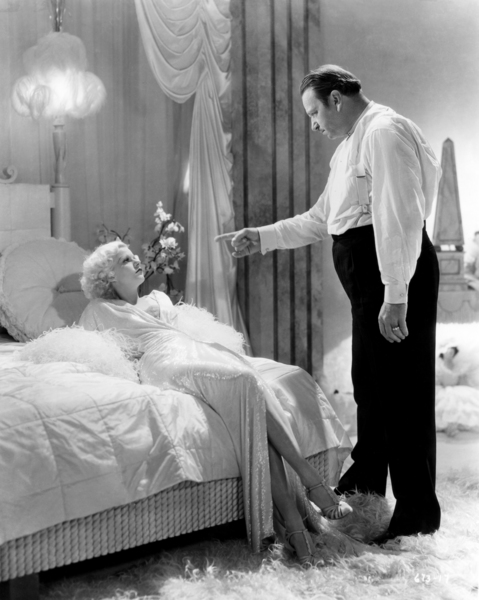 """Jean Harlow and Wallace Beery in """"Dinner at Eight""""1933 MGM** I.V. / J.J. - Image 0716_1239"""