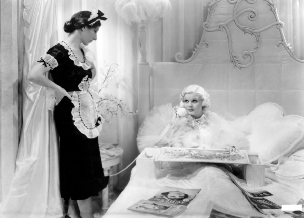 """Hilda Vaughn and Jean Harlow in """"Dinner at Eight""""1933 MGM** I.V. / M.T. - Image 0716_1285"""