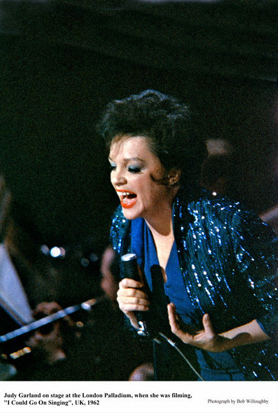 """Judy Garlandon stage at the London Palladium when she was filming """"I Could Go On Singing""""1962 © 1978 Bob WilloughbyMPTV - Image 0733_2188"""