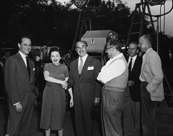 """A Star Is Born""Sidney Luft, Judy Garland, Jack Warner, director George Cukor1954** R.C. - Image 0733_2324"